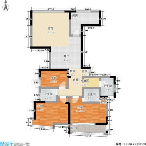 名人御苑3室0厅3卫1厨129.00㎡户型图