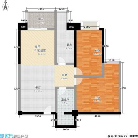 世纪金园2室0厅1卫1厨122.00㎡户型图