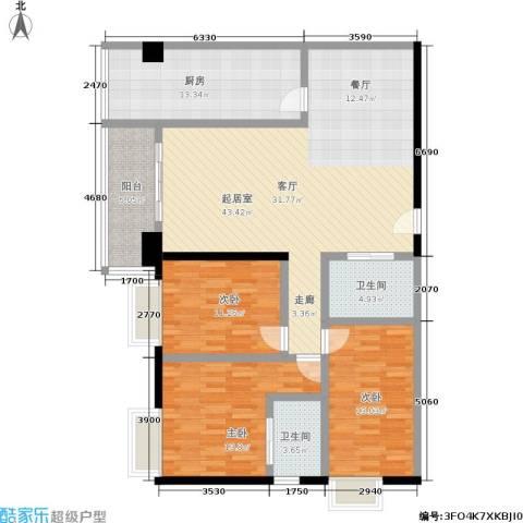 世纪金园3室0厅2卫1厨140.00㎡户型图