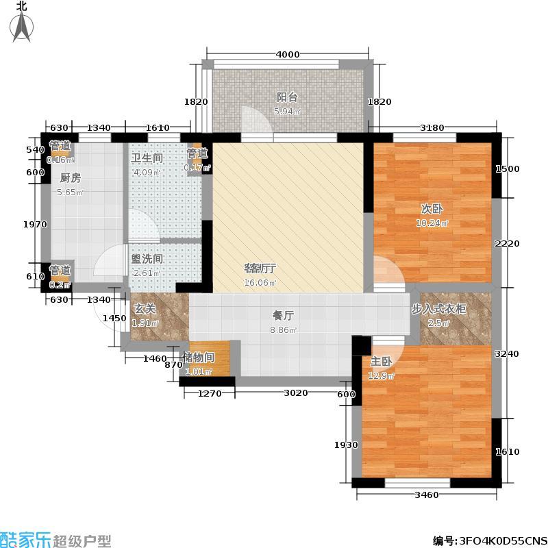 朗诗绿色街区89.00㎡一期4号楼M2(售罄)户型