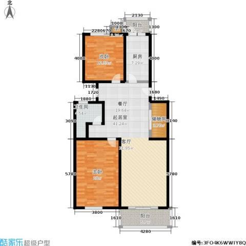 煜王苑2室0厅1卫1厨110.00㎡户型图