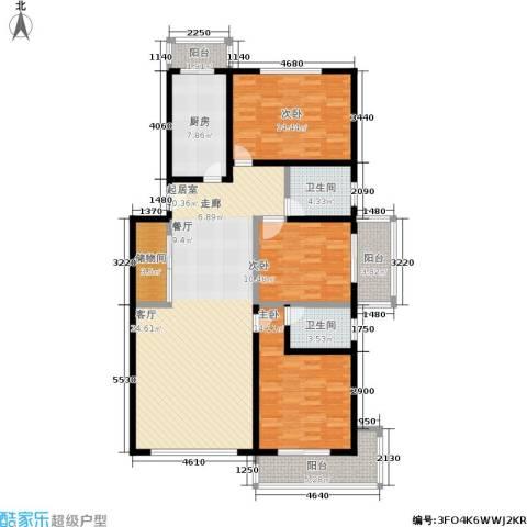 煜王苑3室0厅2卫1厨125.00㎡户型图