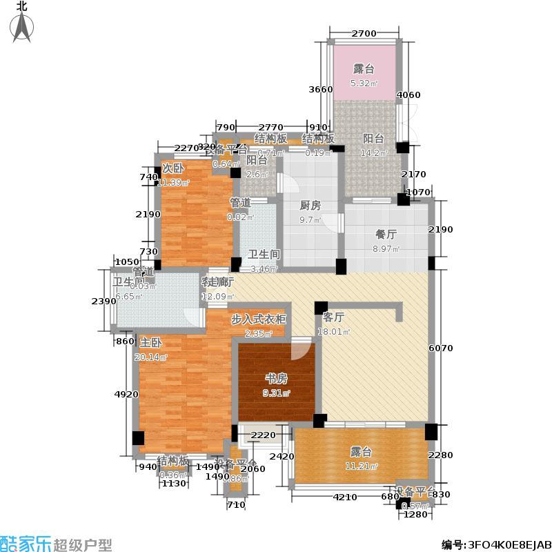 龙城1号142.00㎡二期四层偶数A2户型