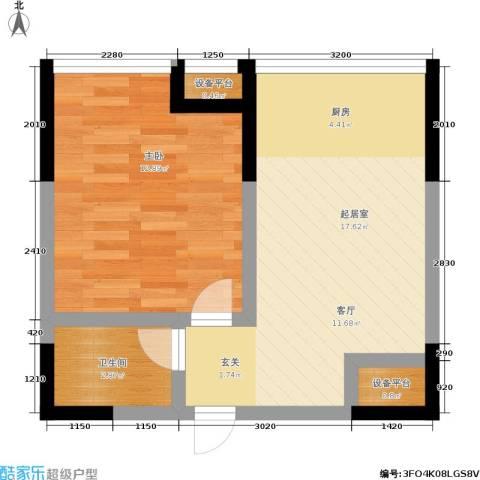 锦翔梧桐坊1室0厅1卫0厨52.00㎡户型图