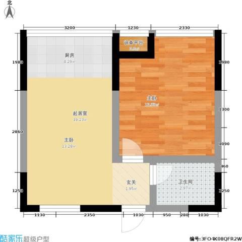 锦翔梧桐坊1室0厅1卫0厨55.00㎡户型图