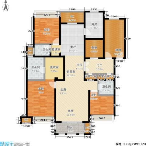 华润置地橡树湾3室0厅3卫1厨145.00㎡户型图