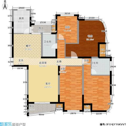 蓝天华门国际花园4室0厅2卫1厨179.00㎡户型图