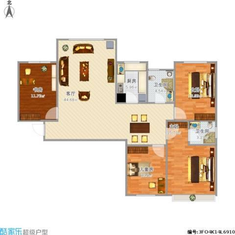 维多利亚广场4室1厅2卫1厨197.00㎡户型图