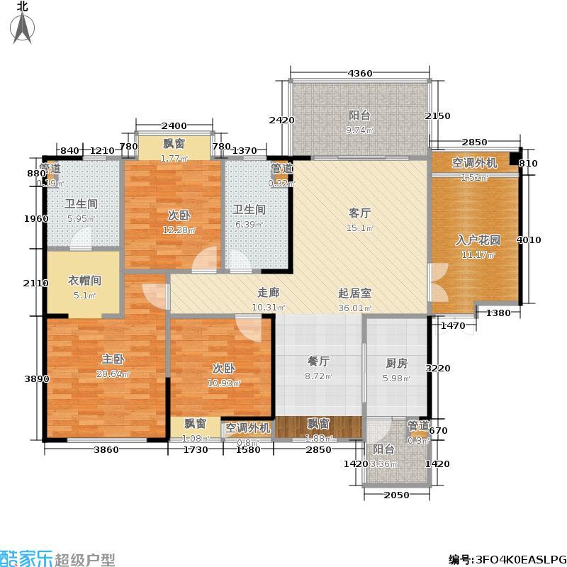 华都美林湾三期16号楼A2偶数层户型