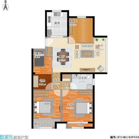 世茂公元4室1厅1卫1厨119.00㎡户型图