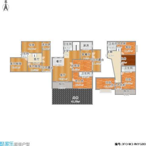 衍宏康馨花园2期5室3厅5卫1厨343.62㎡户型图