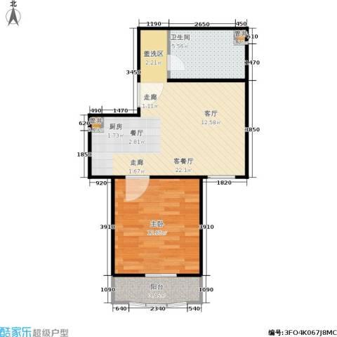 汤INN酒店式公寓1室1厅1卫0厨48.00㎡户型图
