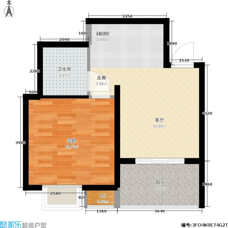 瑞云天成瑞景48.50㎡一期1、2号楼标准层A2户型