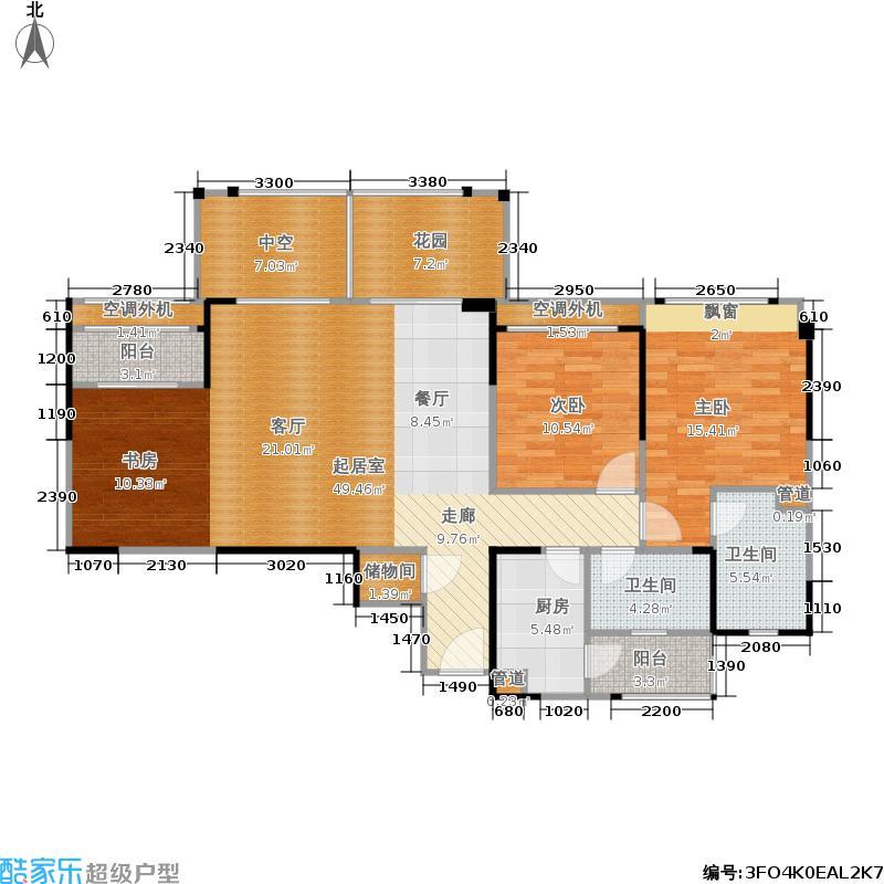 天祥广场127.90㎡一期1号楼标准层D5户型