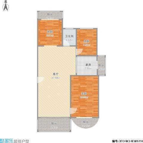 汇贤居1室1厅1卫1厨96.00㎡户型图