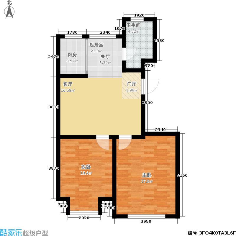 山水家园99.07㎡D2户型2室2厅