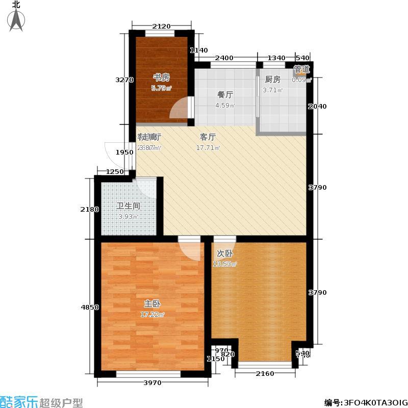 山水家园110.15㎡C3户型3室2厅