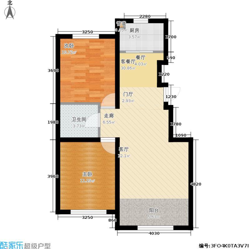 山水家园97.44㎡C2户型2室2厅