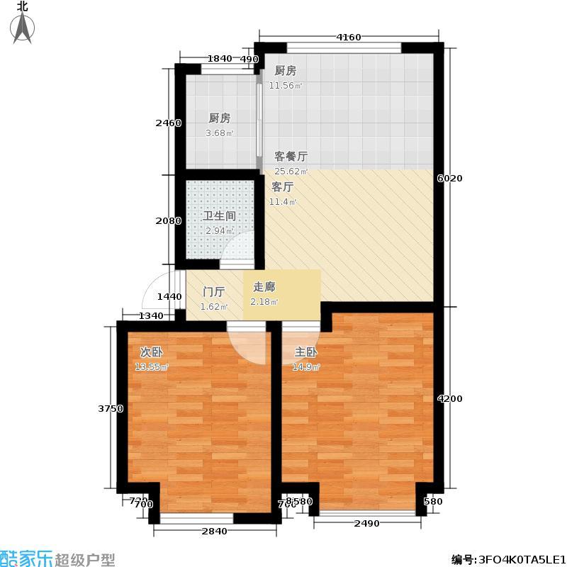 山水家园97.96㎡C1户型2室2厅