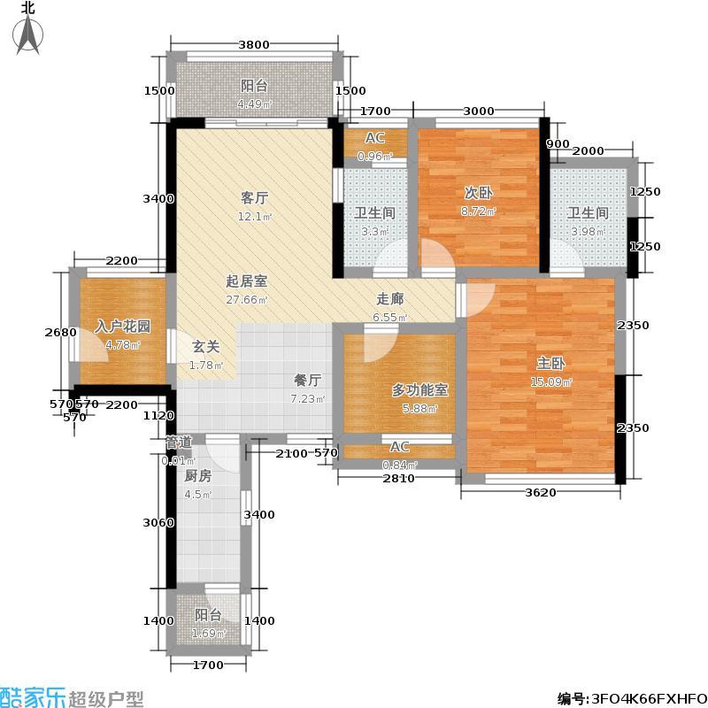 瀚林美筑瀚林美筑户型图88㎡两房(31/47张)户型10室