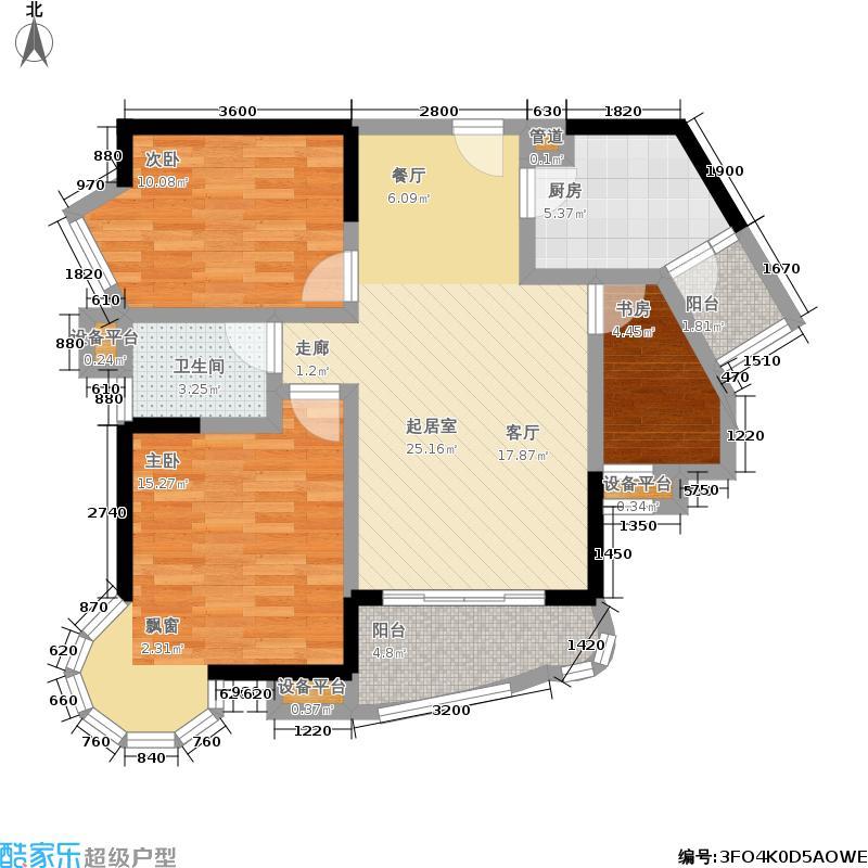 龙门镇90.00㎡一期3号楼33层C8户型