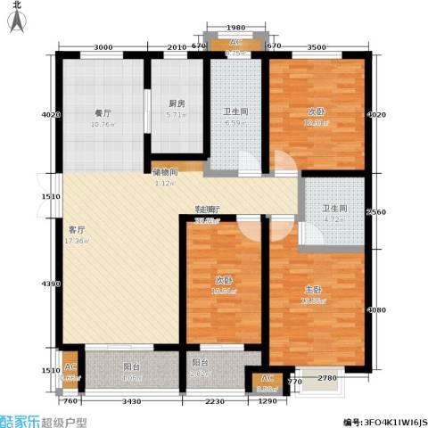 泰丰观湖3室1厅2卫1厨149.00㎡户型图
