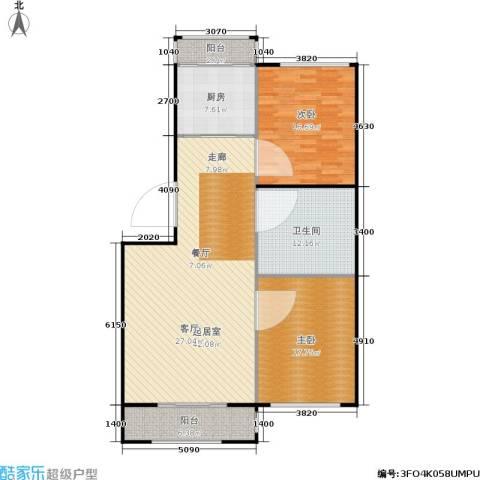 天通苑西一区2室0厅1卫1厨112.00㎡户型图