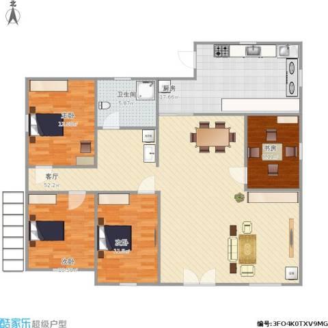 公园11号4室1厅1卫1厨157.00㎡户型图