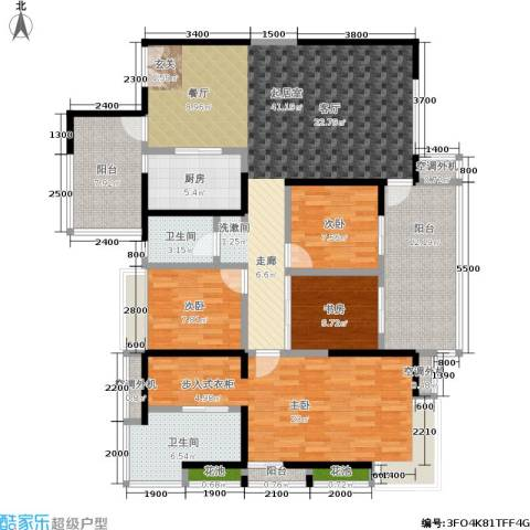 海峡国际社区4室0厅2卫1厨180.00㎡户型图
