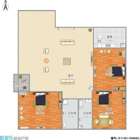 三箭吉祥苑3室1厅2卫1厨363.00㎡户型图