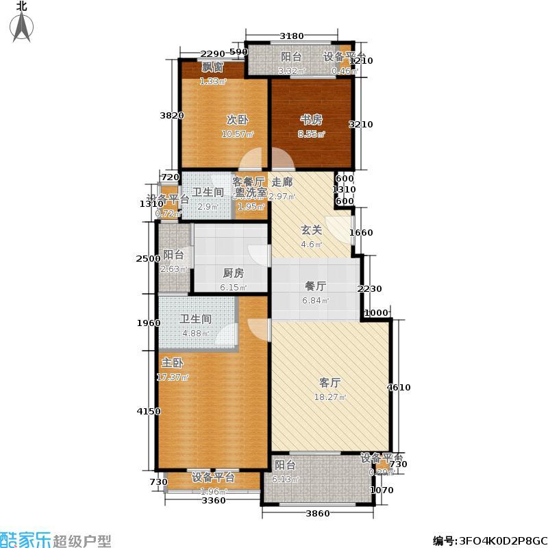 钱江美域110.00㎡1、8、12-14号楼标准层c户型