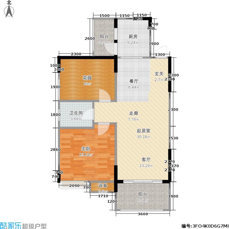 宜峰74.37㎡一期1号楼标准层A4户型