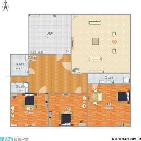 三箭吉祥苑3室1厅3卫1厨486.00㎡户型图