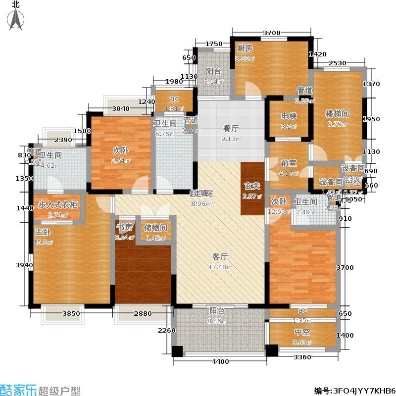 复地新都国际178.00㎡二期9、10、11、13号楼标准层C1户型