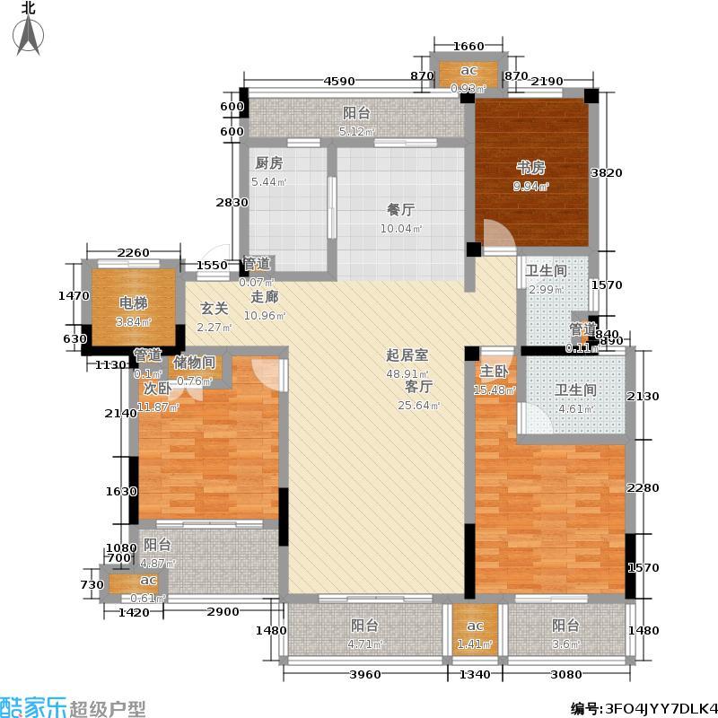 中海国际社区140.00㎡花园洋房标准层A3户型