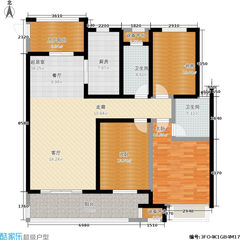 九洲花园缇香郡138.00㎡30、34#标准层G户型