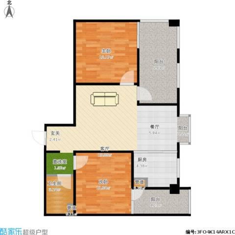 嘉来涪滨印象2室1厅1卫1厨95.00㎡户型图