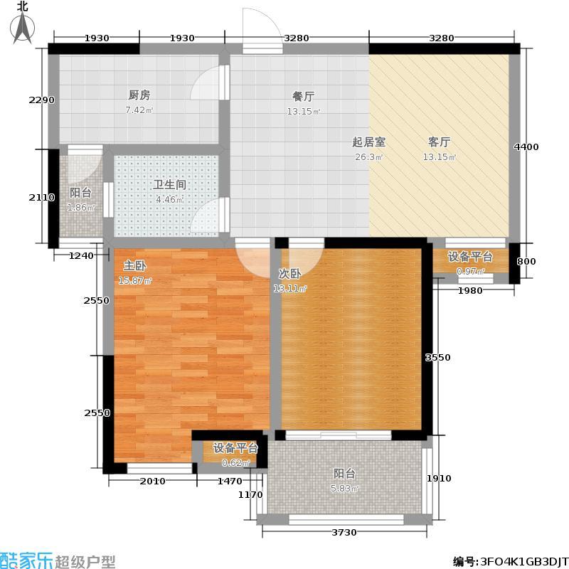 九洲花园缇香郡93.06㎡E户型
