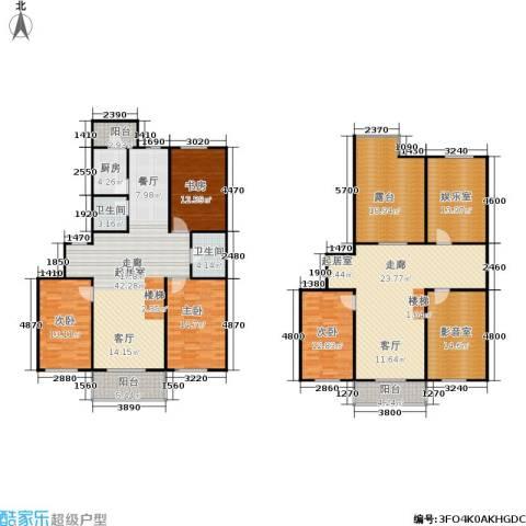 龙腾金荷苑4室0厅2卫1厨203.65㎡户型图