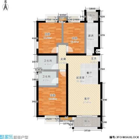 天恒乐活城D53室0厅2卫1厨128.00㎡户型图