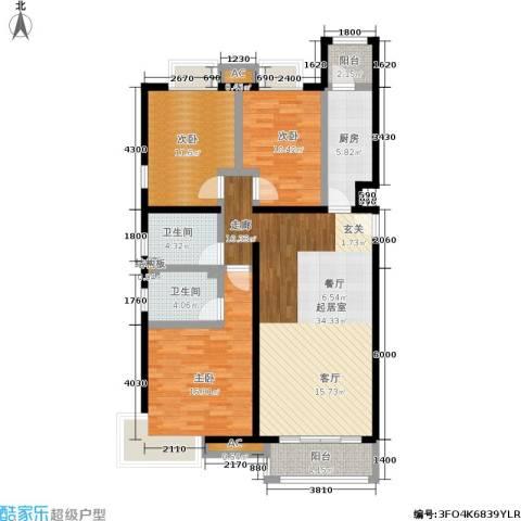 天恒乐活城D53室0厅2卫1厨125.00㎡户型图