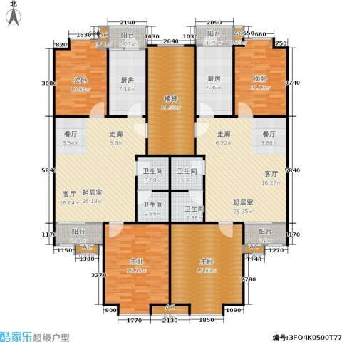 世涛天朗一期4室0厅4卫2厨161.55㎡户型图