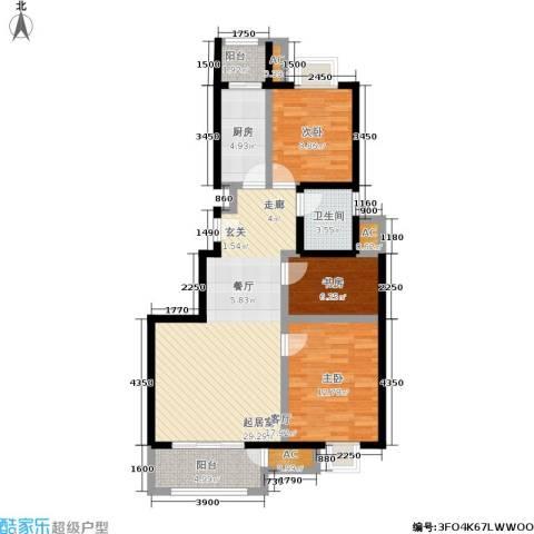 天恒乐活城D53室0厅1卫1厨98.00㎡户型图