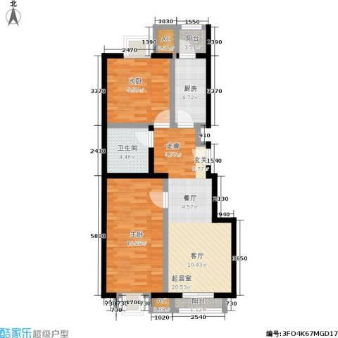 天恒乐活城D52室0厅1卫1厨81.00㎡户型图