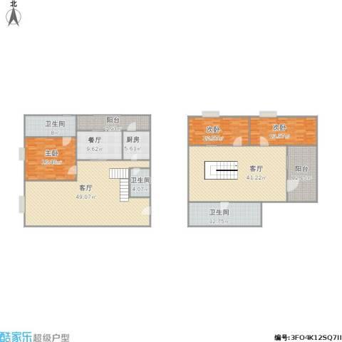 A+5米43室3厅3卫1厨257.00㎡户型图