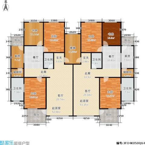 世涛天朗一期6室0厅4卫2厨261.75㎡户型图