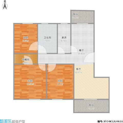 路劲凤凰城3室1厅1卫1厨115.00㎡户型图
