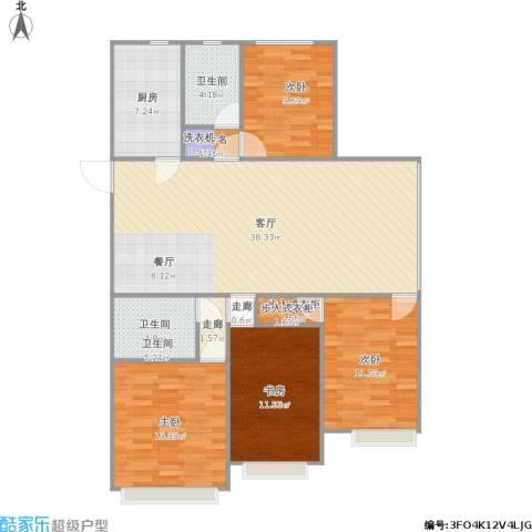 开元翡翠湾4室1厅1卫1厨143.00㎡户型图