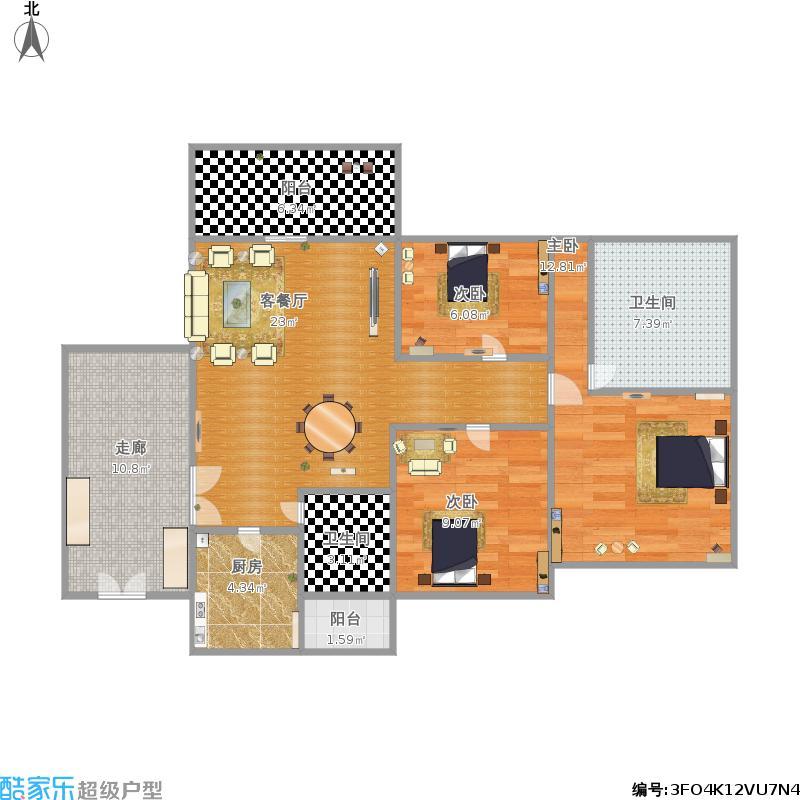 大三房户型