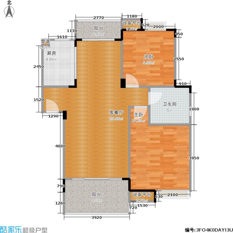 御源大湖区86.42㎡【售罄】1-41号楼A1标准层户型